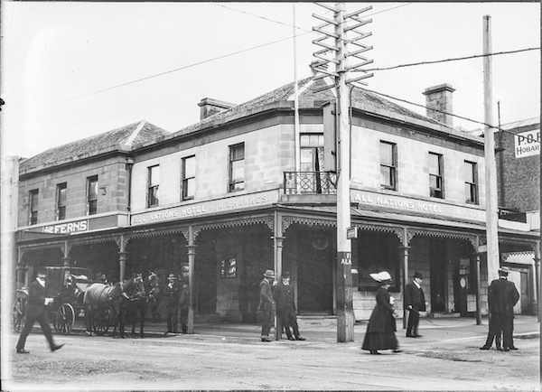 All Nations Hotel corner of Elizabeth St and Collins St Hobart, Tasmania (c1900s)