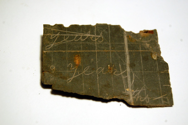 Piece of Slate Writing Tablet