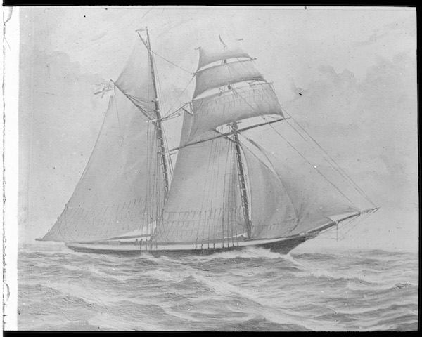 Government Schooner Eliza glass lantern slide NS2511-1-183