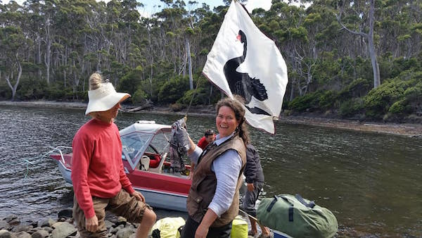 deb wace at black swan lagoon with conny harris by elizabeth perey